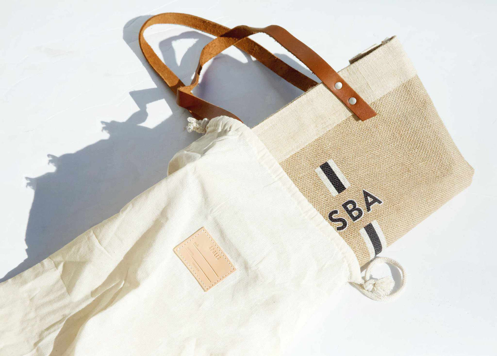 Customize Your Striped Long Handle Monogram Bag