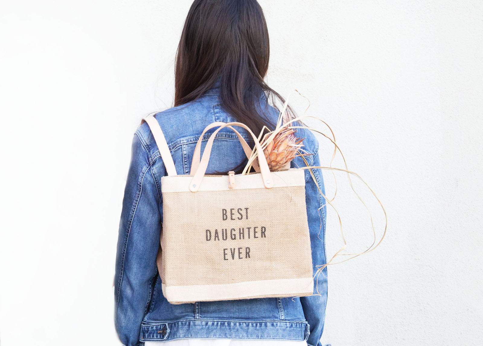 'Best Daughter Ever' Petite Market Backpack