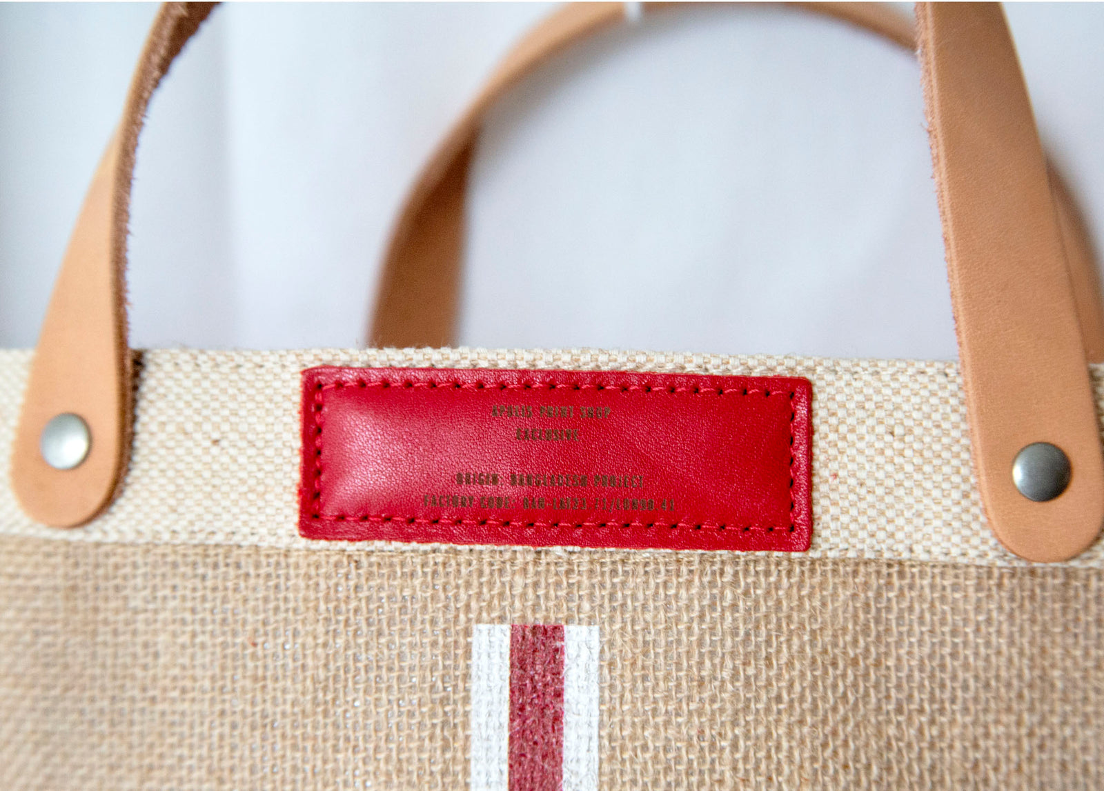 Stripe Monogram Petite Bag in Red | Print Shop Exclusive