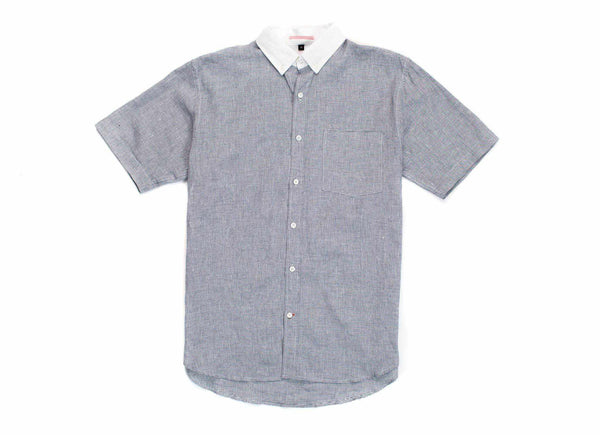 Japanese Short Sleeve Banker Collar Shirt