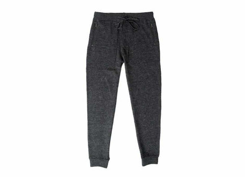Boiled Wool Sweatpant, Charcoal