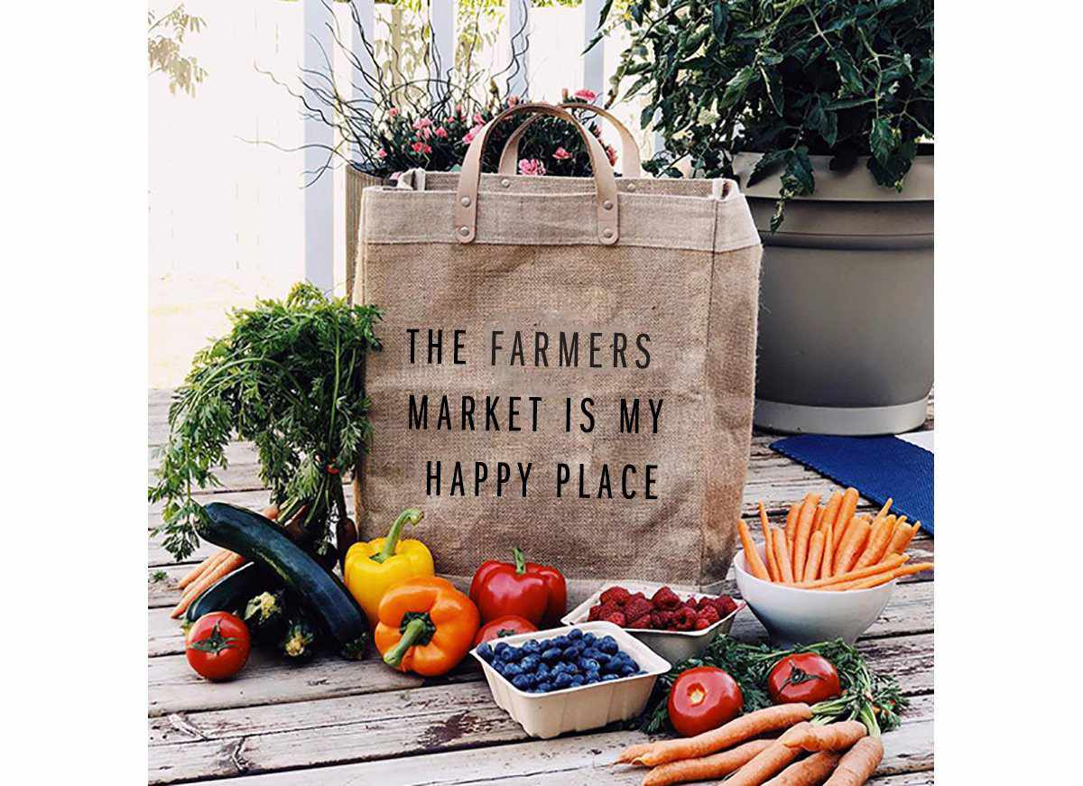 The Farmers Market Is My Happy Place Market Bag
