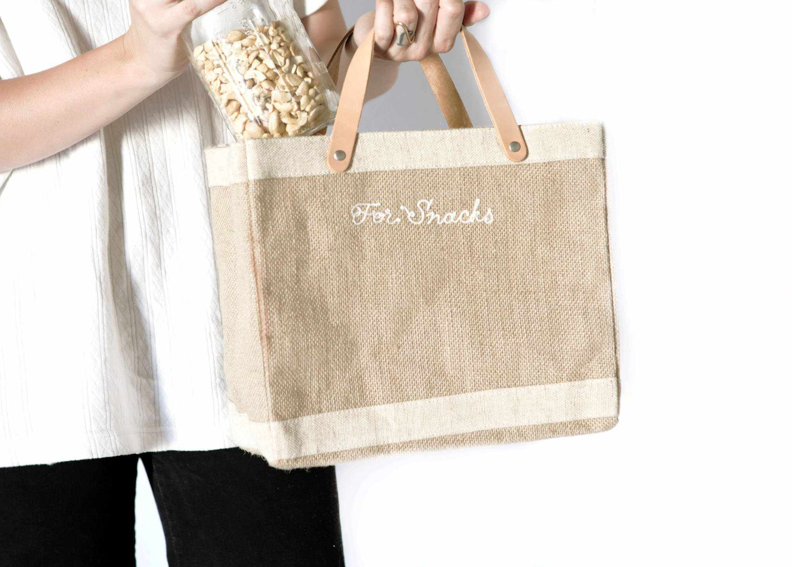 Customizable Embroidered Petite Market Bag