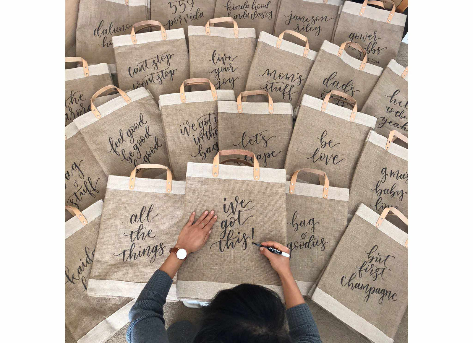 Apolis + Crooked Calligraphy Customizable Market Bag