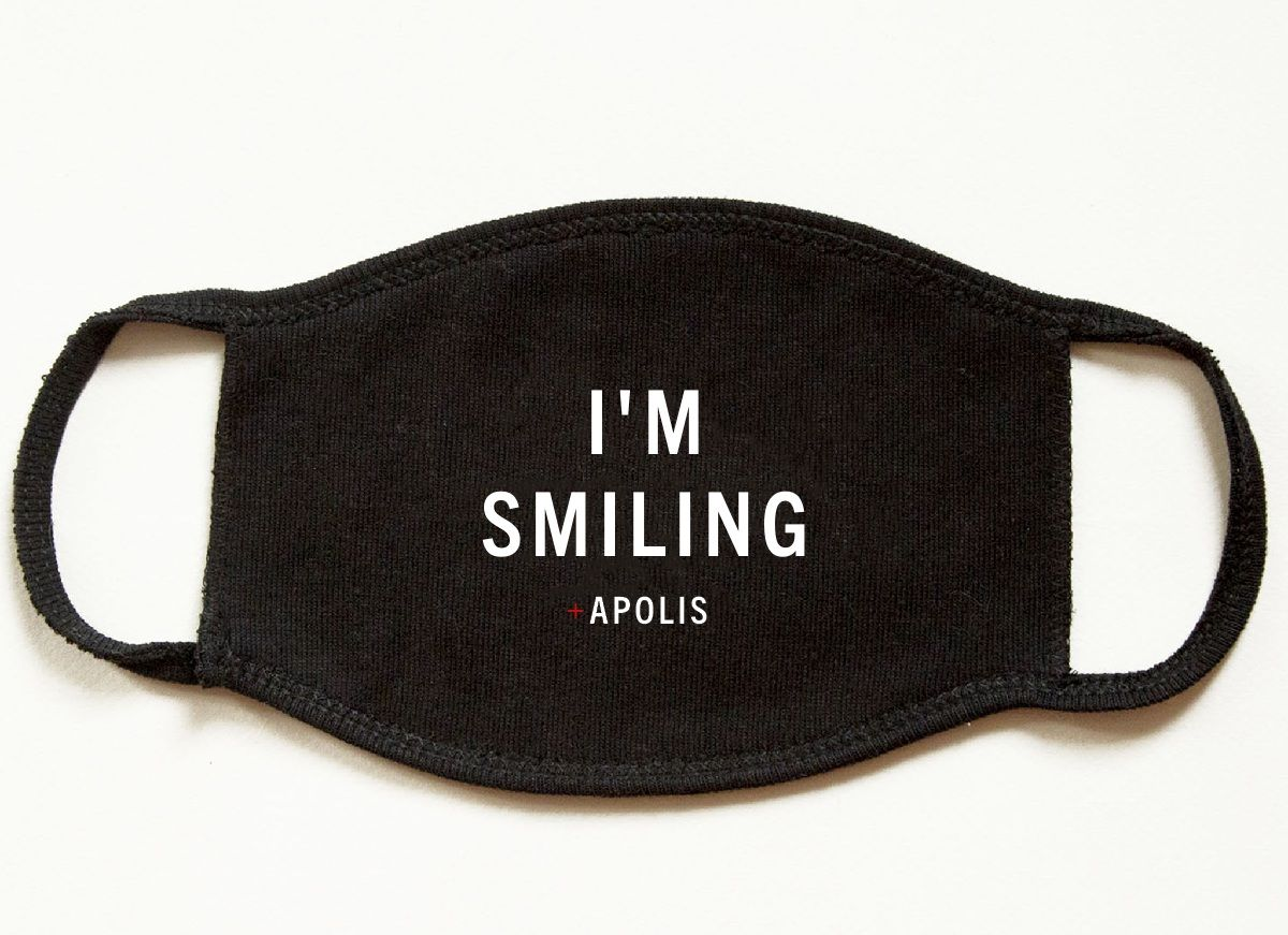 """I'm Smiling"" Non-Medical Adult Face Mask for Baby2Baby®"