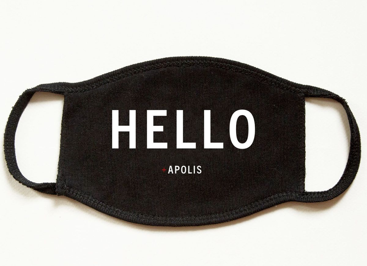 """Hello"" Monogram Non-Medical Adult Face Mask for Baby2Baby®"