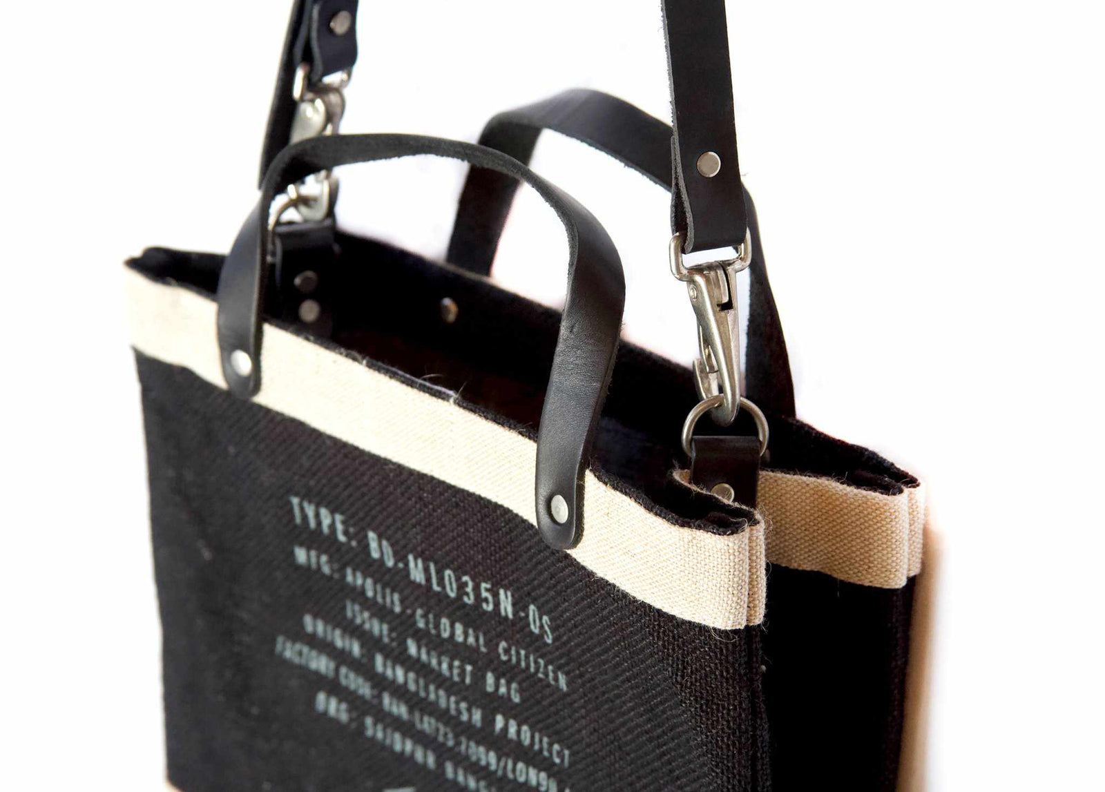 Customize Your Petite Black Market Bag With Detachable Handle
