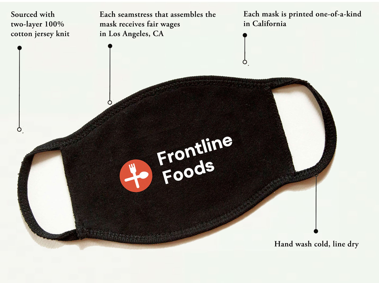 3-Pack Frontline Foods® Non-Medical Face Mask