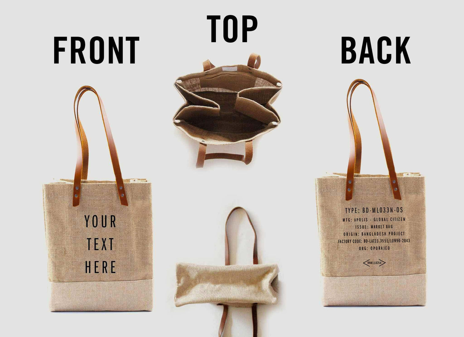 Customize Your Impact Tote for Charity: Water