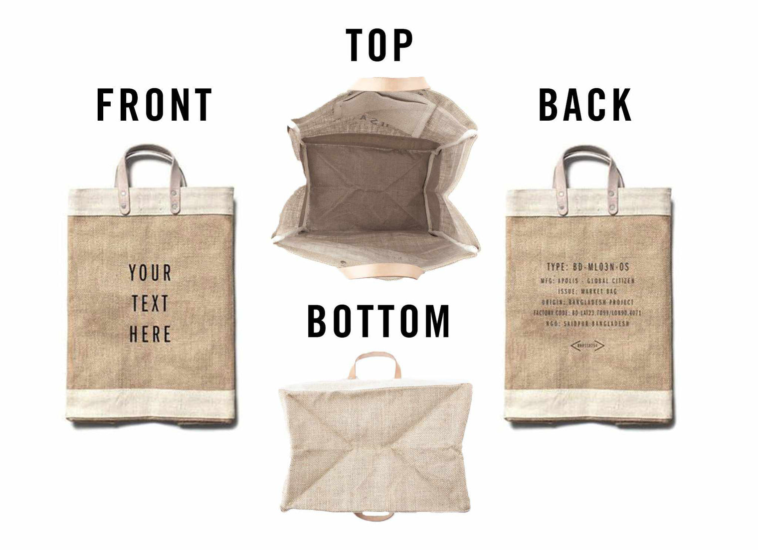 Customize Your Grocery Market Bag
