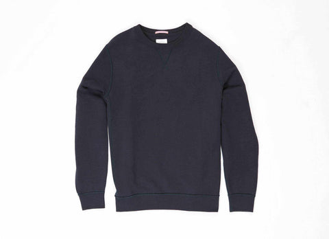 French Terry Pullover, Navy