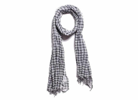Apolis + Atelier Ace Gauze Scarf, Grey Check