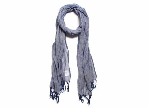 Apolis + Atelier Ace Gauze Scarf, Light Indigo