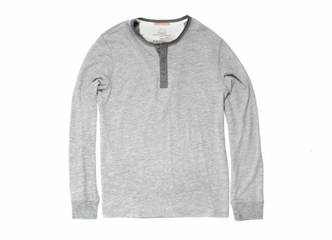 Standard Issue Longsleeve Henley, Heather
