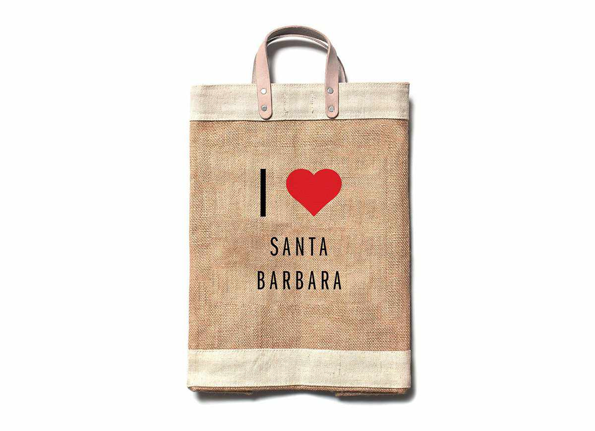 I Heart Santa Barbara Market Bag