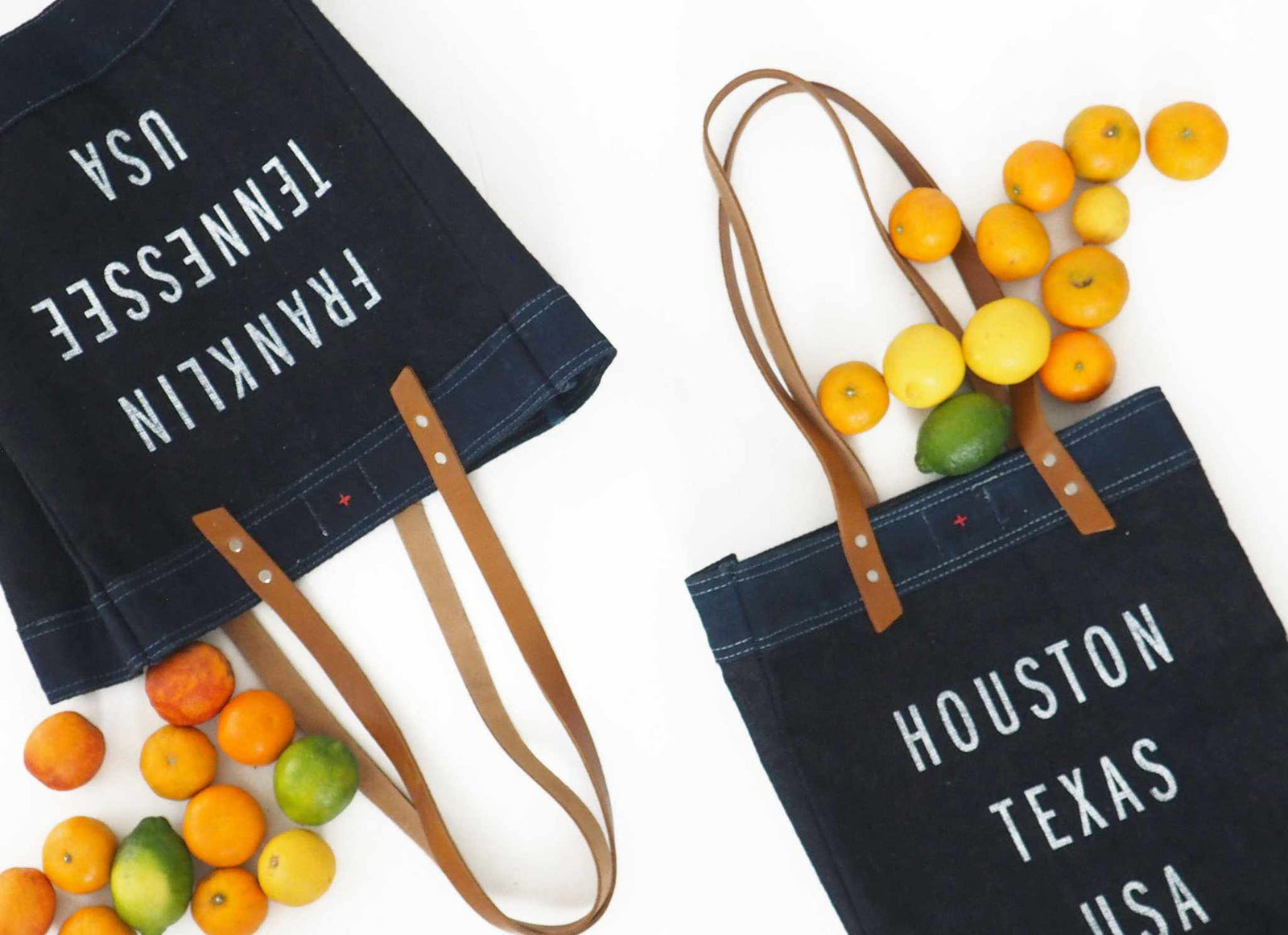 Customize Your Long Handle Tote in Indigo