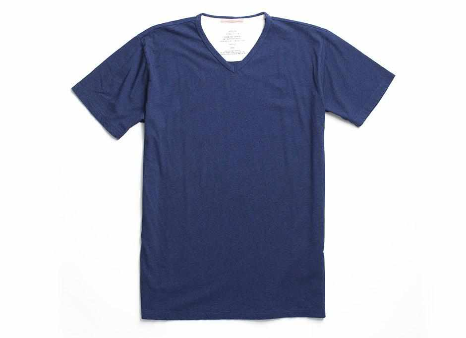 Indigo V-Neck T-Shirt