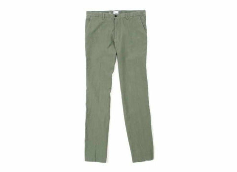 Washed Linen Civilian Chino Pant, Olive