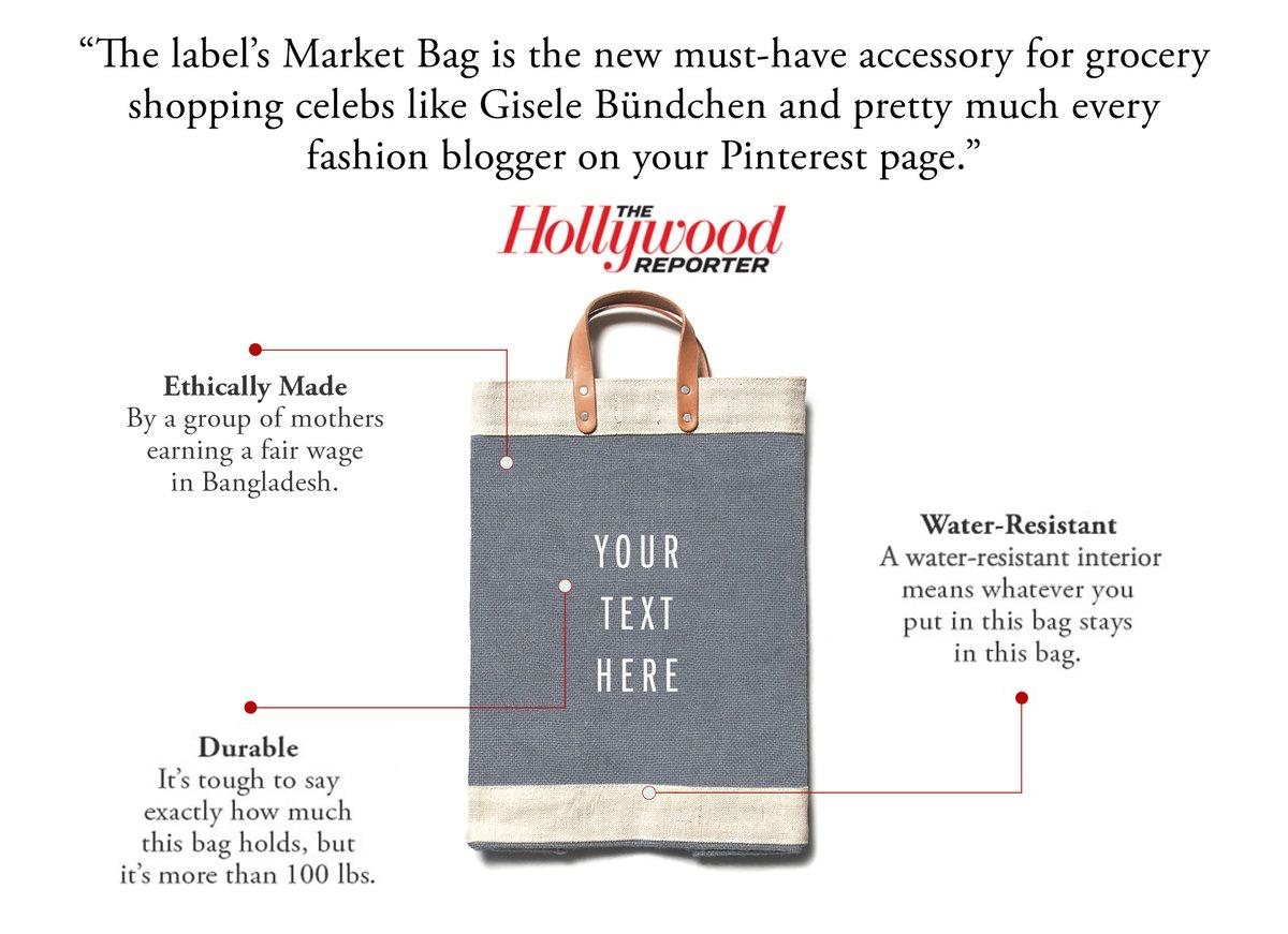 Customize Your Market Bag in Cool Gray