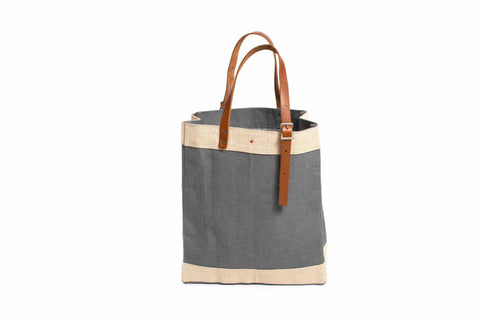 Market Carrier Tote, Charcoal