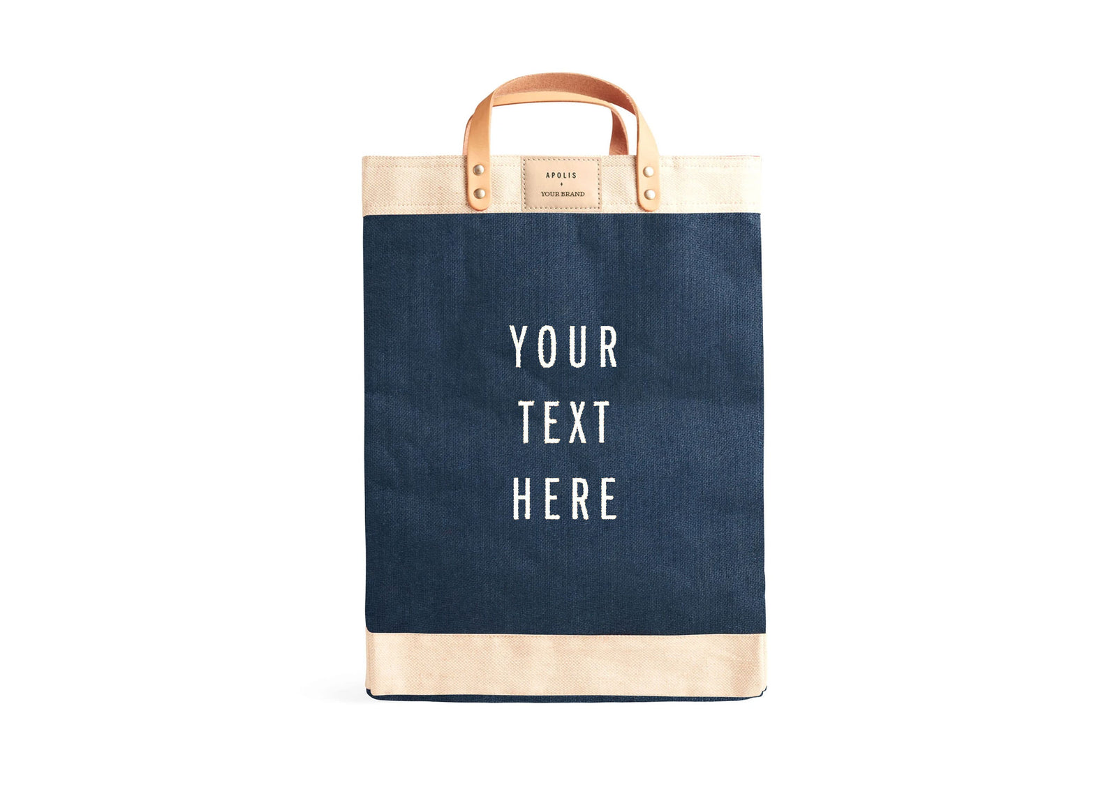 Customized Market Bag in Navy - Wholesale