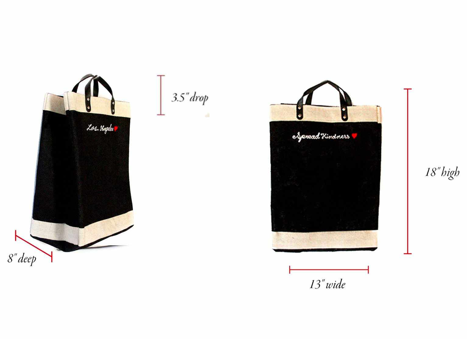 Customizable Embroidered Market Bag in Black for Baby2Baby®