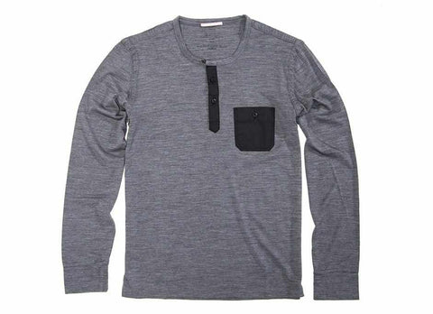 Transit Issue Merino Henley, Charcoal