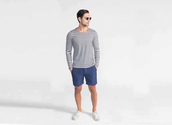 Transit Issue Long Sleeve Striped Merino Crew Neck Shirt
