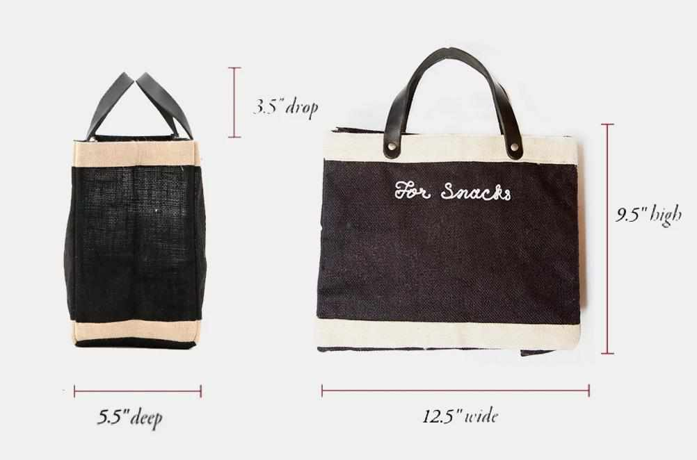 Customize Your Embroidered Petite Black Market Bag for Baby2Baby®