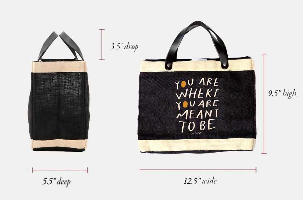 MHN + Apolis 'You are where you are meant to be' Petite Market Bag for Baby2Baby®