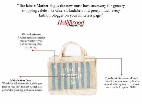 Customize Your Striped Petite Market Bag in Navy