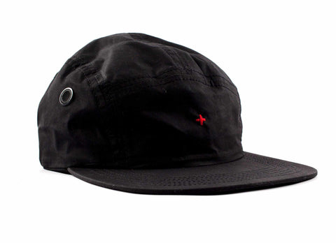 Transit Issue Nylon 5 Panel Hat, Black