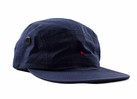 Transit Issue Nylon 5-Panel Hat, Navy