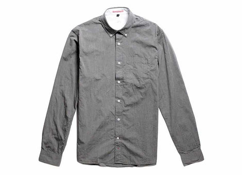 Japanese Paper Button Down, Charcoal