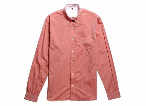 Japanese Paper Button Down, Rose