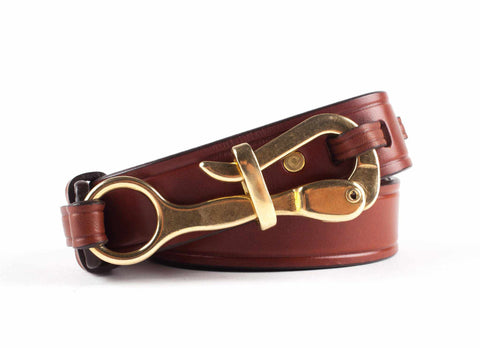 Pelican Hook Belt, Tobacco