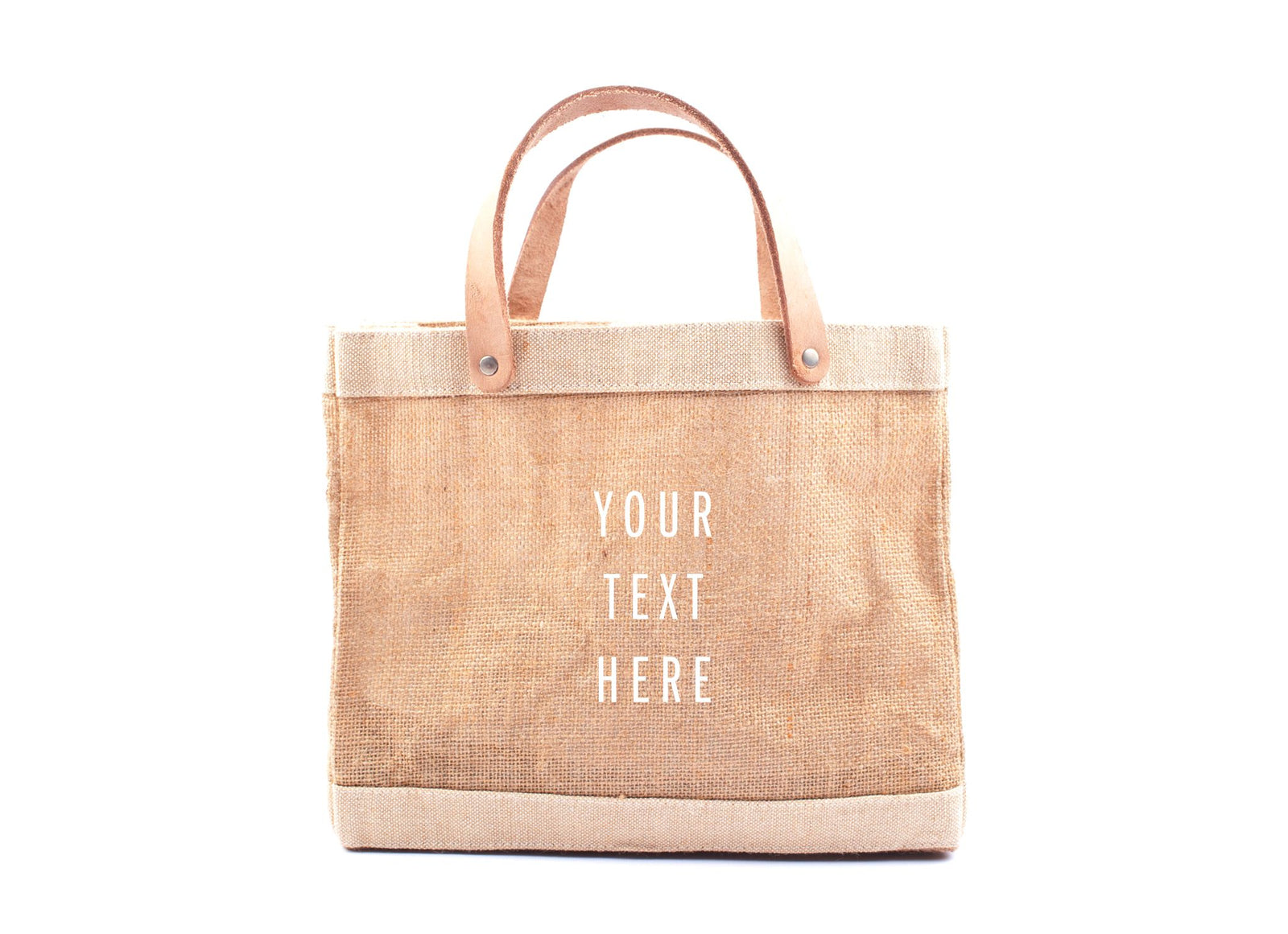 Customized Petite Market Bag in Natural - Wholesale
