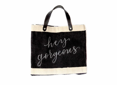 Customize Your Petite Calligraphy Black Market Bag for Baby2Baby®