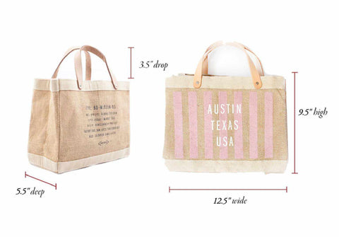 Customize Your Striped Petite Market Bag in Pink