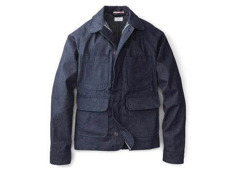 Selvedge Denim Chore Jacket, Indigo