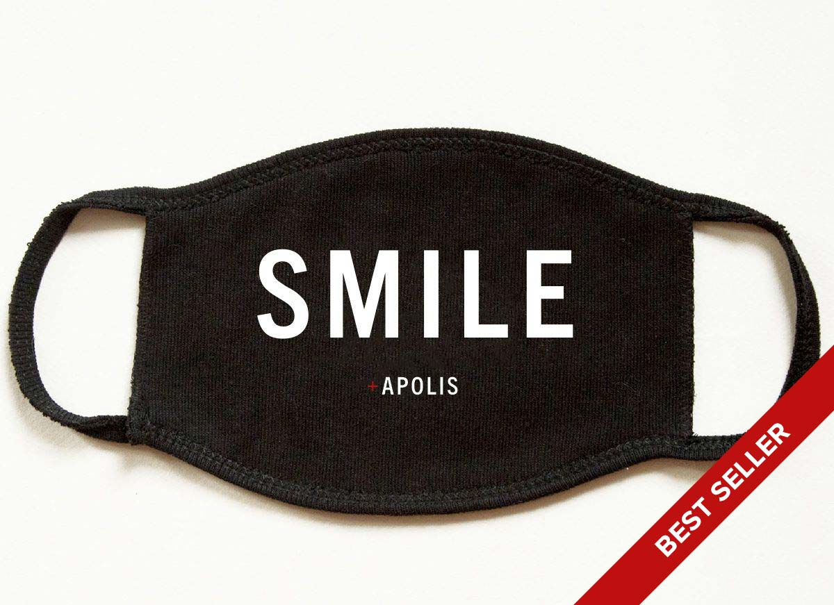 """Smile"" Monogram Non-Medical Adult Face Mask for Baby2Baby®"