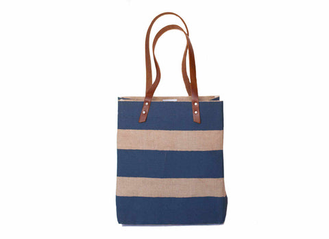 Striped Standard Tote, Navy