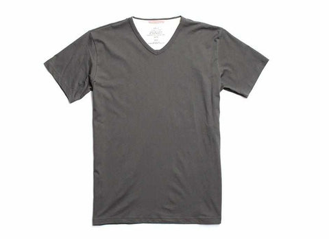 Standard Issue Organic V-Neck T-Shirt, Charcoal