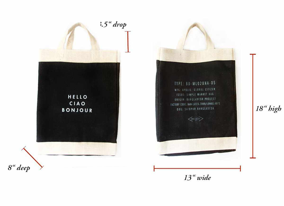Customize Your Vegan Market Bag: 100% Leather-Free in Black