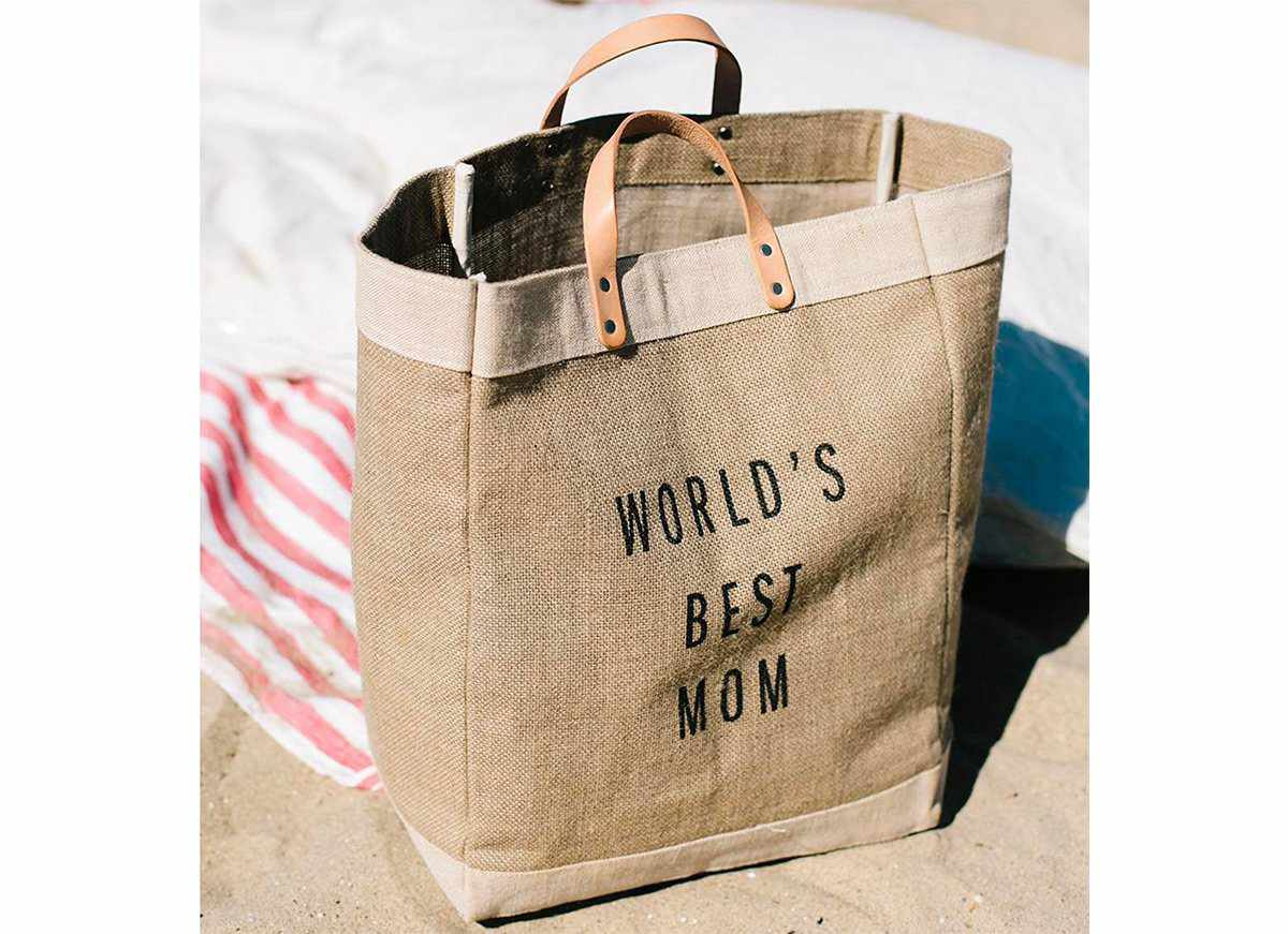 'World's Best Mom' Gift Market Bag