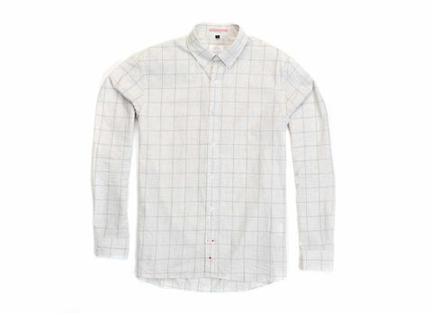 Japanese Windowpane Button Down, White