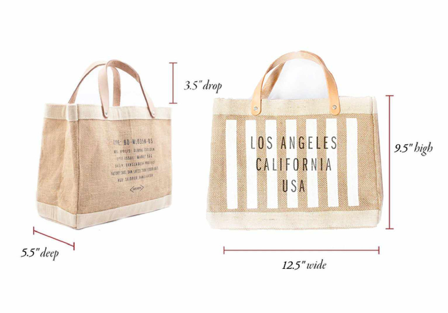 Customize Your Striped Petite Market Bag in White