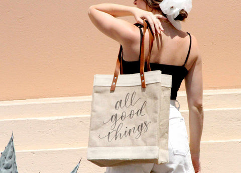 Customize Your Long-Handle Calligraphy Tote