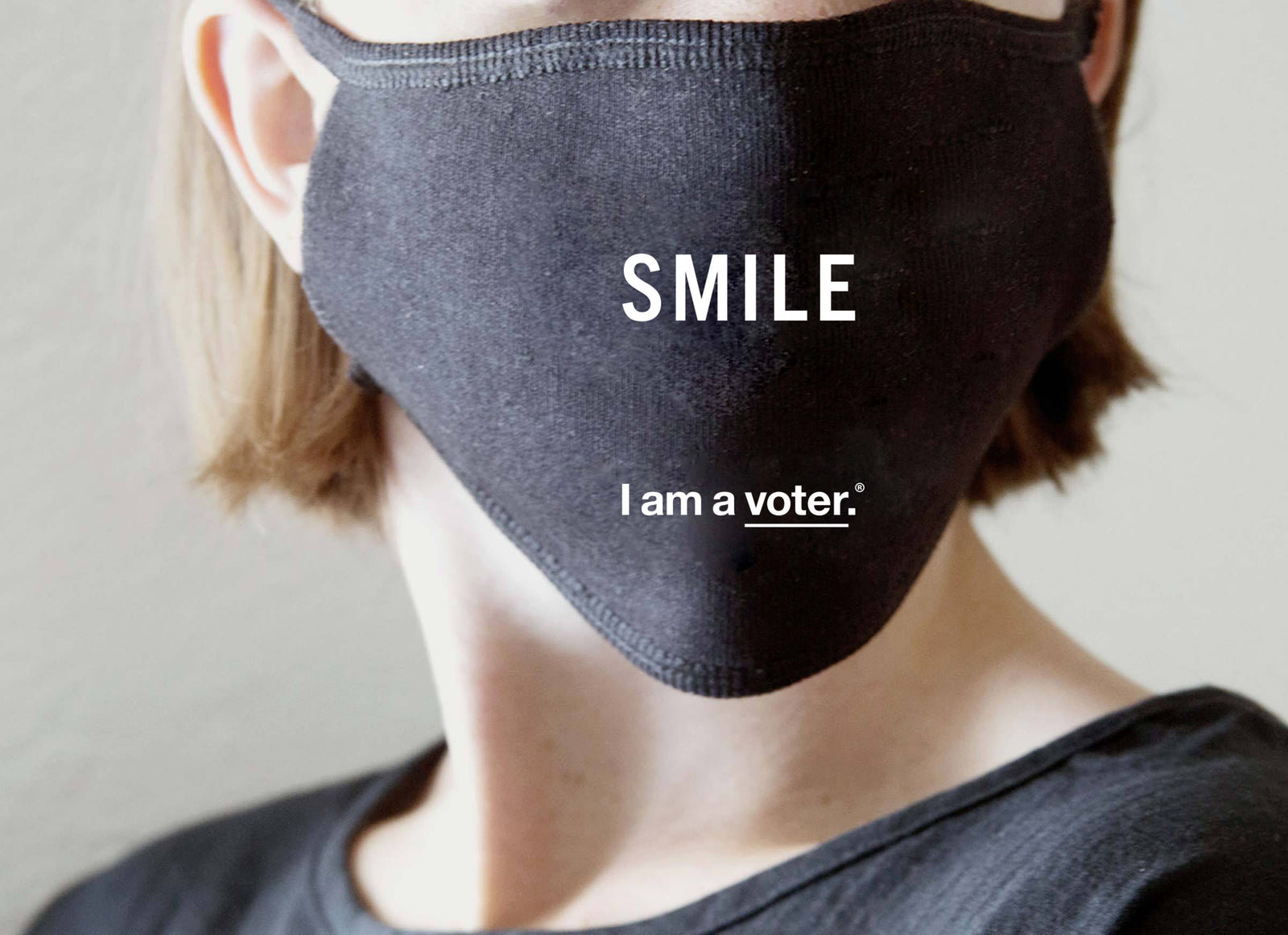 """Smile"" Non-Medical Adult Face Mask for I am a voter.®"
