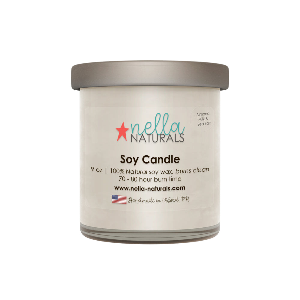 9oz Almond Milk & Sea Salt Soy Wax Candle